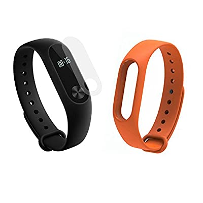 Xiao Mi Band 2 Bluetooth 4.0 with OLED Display Fitness Tracker with Orange Strap