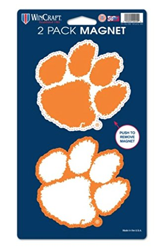 NCAA Clemson University Tigers 2-pack Die Cut Magnet Set