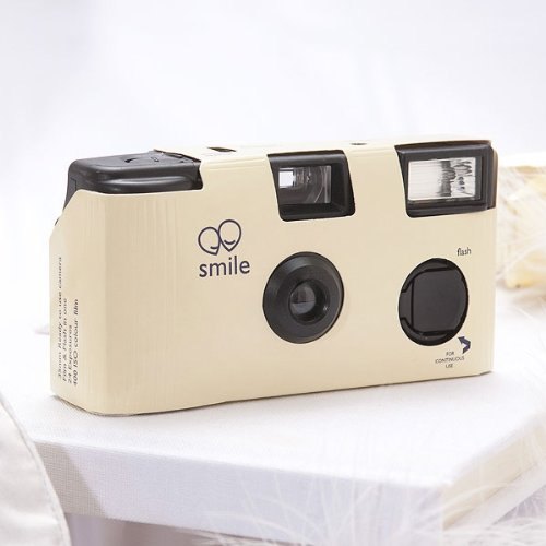Single Use Camera – Solid Color Design – Ivory