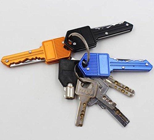 Mosuch Key Shaped Folding Pocket Knife 2.8 Inch Black 2 Pcs