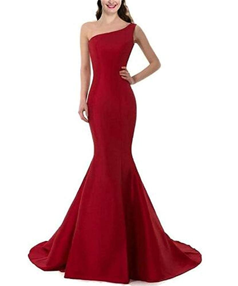 Red Yuki Isabelle One Shoulder Mermaid Homecoming Evening Gowns Sleeveless Bodycon Wedding Guest Dresses