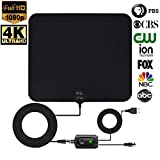 [ REAL DEAL ] Newest Updated 2018 Digital HD TV Antenna with Latest Amplifier Technology- Support for 720p,1080p and up to 4K. Paintable to Match Any Color Wall- USB Powered amplifier-18ft Cord For Sale