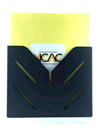 VICS Single Pocket Wall Mounted Steel Clipboard/File Holder-White