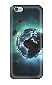 CaseyKBrown Iphone 6 Plus Hybrid Tpu Case Cover Silicon Bumper Pixel Earth