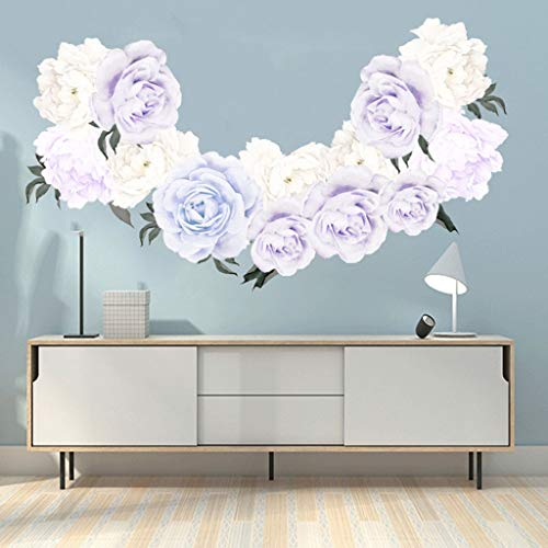 FORUU 2019 Wall Stickers Decals Murals Peony Rose Flowers Wall Art Sticker Kid Room Nursery Home Decor GiftUnder 5 Dollars Discount New -