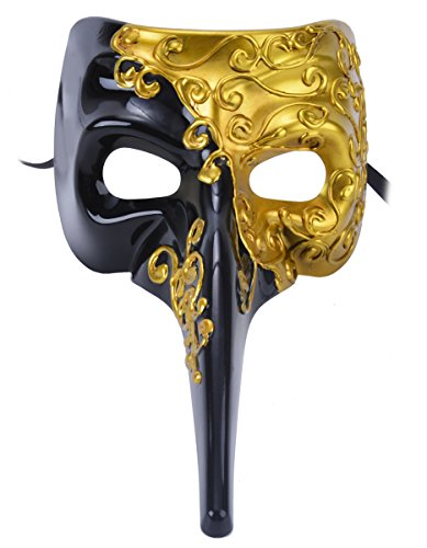 [Venetian Masquerade Mask Drama Ball Long Nose Mask Joker Party Mask] (Drama Mask Costume)