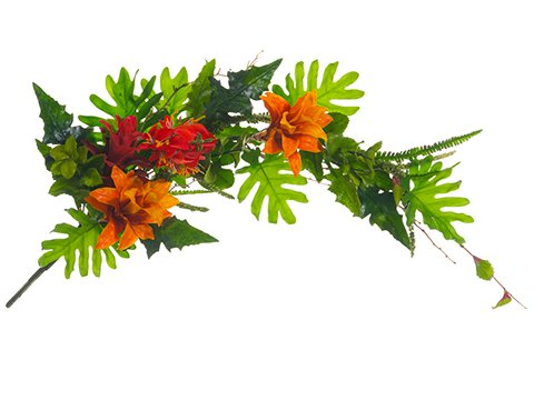 Silk Plants Direct Tropical Swag (Pack of 2) Dried Floral Swags
