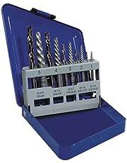 Irwin Industrial Tools 11119 Metal Index Spiral Flute Screw Extractors with Left Hand Cobalt Drill Bits Set, 10-Piece