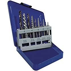 IRWIN Tools Hanson Spiral Extractor and Drill Bit Set, 10 Piece, 11119