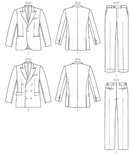 Cartamodello giacca da uomo 123ricreo | Giacca da uomo