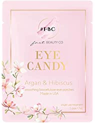 Fast Beauty Co. Eye Candy! 1 pair Smoothing Biocellulose Eye Patches With Argan & Hibiscus