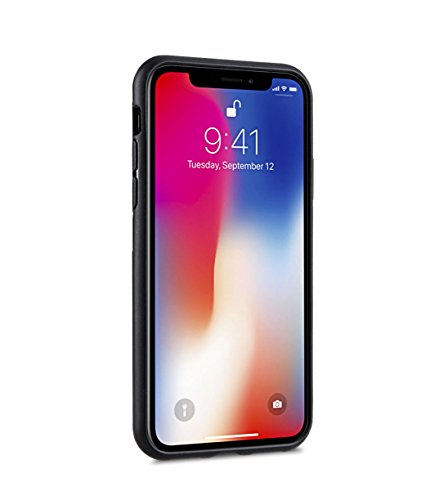 Melkco Kubalt Edelman Series Layer Apple iPhone X Support Wireless Charging Rugged Case, Shock Protection, Raised Bevel, Edge Protection, Military Grade Case - Black by Melkco (Image #1)