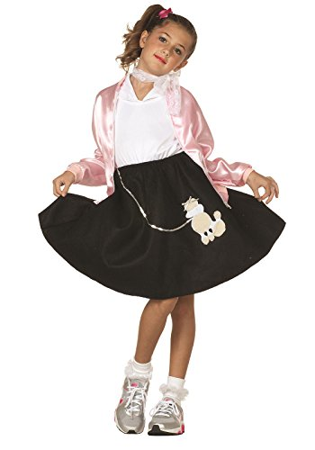 [RG Costume Black Poodle Skirt - Child Large] (Black Poodle Skirt)