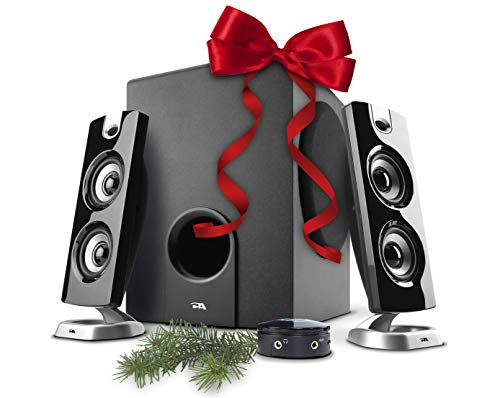 602FFP 2.1 Speaker Sound System with Subwoofer and Control Pod - Great for Music, Movies, Multimedia PCs, Macs, Laptops and Gaming Systems ()