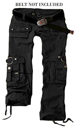 f4324c1eb25 Juicy Trendz Womens Trousers Army Military Ladies Casual Cargo Pants Black M