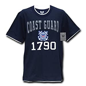 Rapiddominance Coast Guard Pitch Double Layer Tee, Navy, Small