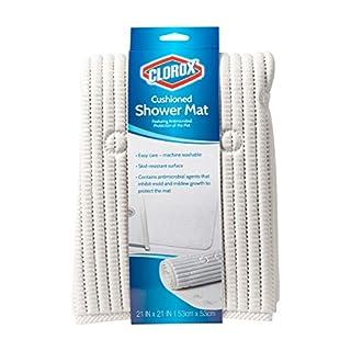 Duck Brand 285343 Clorox Cushioned Shower Mat, 21 x 21 Inches, White