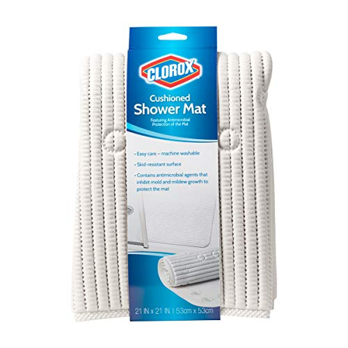 Mat Shower Stall (Duck Brand 285343 Clorox Cushioned Shower Mat, 21 x 21 Inches, White)