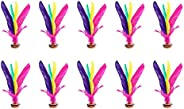 10 Pack Kick Shuttlecock Colorful Chinese Jianzi Foot Outdoor Game Feather Foot Sports Toy Game Indoor Outdoor