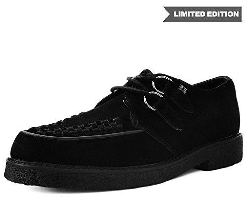 T.U.K. Shoes A9335 Unisex-Adult Dress Shoes, Black Suede D-Ring Crepe Dress Shoe - US: Men 12 / Women 14 for $<!--$104.95-->