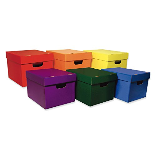 Classroom Keepers Storage Totes, 6 Assorted Colors, 10-1/8''H x 12-1/4''W x 15-1/4''D, 6 Pieces by Classroom Keepers