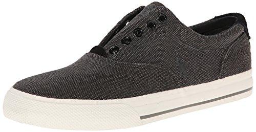 Polo Ralph Lauren Men's Vito Burlap Fashion Sneaker, Black, 11 D US