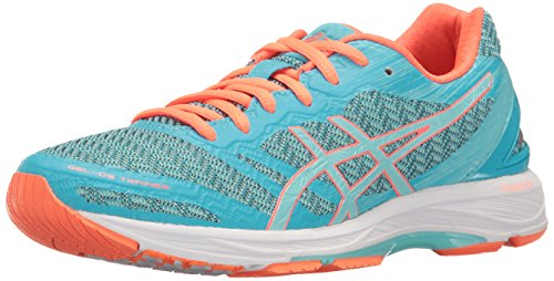 ASICS Women's Gel-DS Trainer 22 Running Shoe, Aquarium/Aqua Splash/Flash Coral, 5 M US