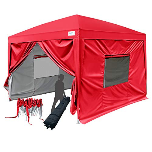 Quictent 2018 Upgraded Privacy 10x10 EZ Pop Up Canopy Party