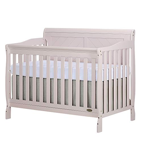 Dream On Me Ashton Full Panel Convertible 5-in-1 Crib, Blush Pink For Sale