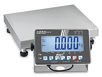 Balanza de plataforma de acero inoxidable [Kern SXS 60K-2LM] con indicador de