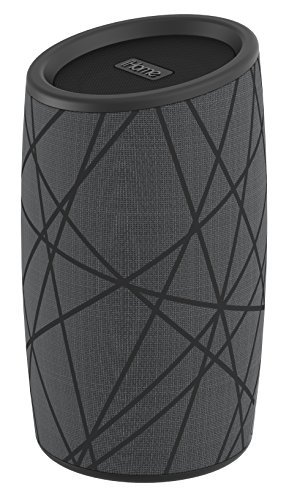 iHome iBT77 Portable Bluetooth Speaker with Speakerphone and Splashproof Fabric (Gray w/Black) ()