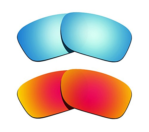 Littlebird4 2 Pairs Polarized Replacement Lenses for Oakley Holbrook Sunglasses - Multiple Options (Orange-Ice - Order Sunglasses Mass