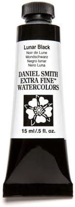 Daniel Smith Extra Fine Watercolor 15ml Paint, lunar black
