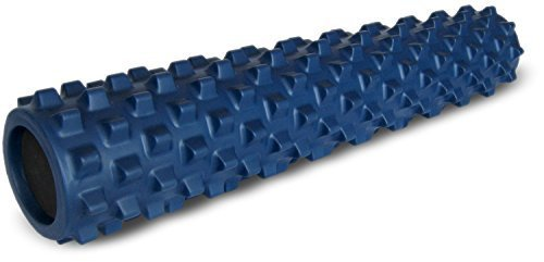 RumbleRoller - Full Size 31 Inches - Blue - Original - Textured Muscle Foam Roller - Relieve Sore...