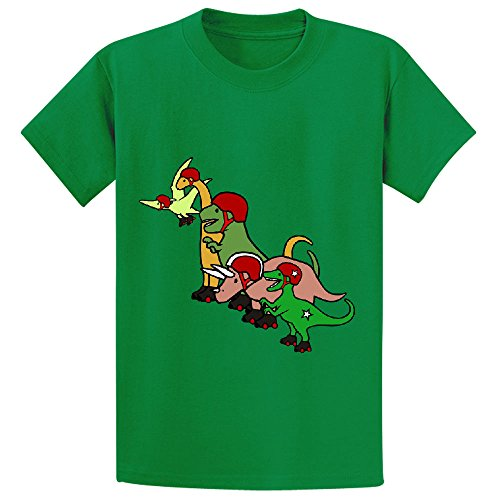 unicorn-roller-derby-dinosaurs-youth-crew-neck-shirts-green