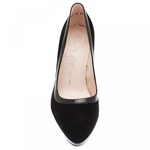 Henrike Court Shoe Black Suede