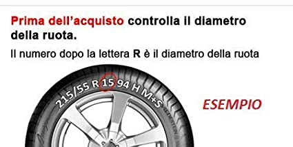 RICAMBIITALIA2017 Set 4 COPRICERCHI 15 Pollici con Anello in Ferro Montaggio AD Incastro