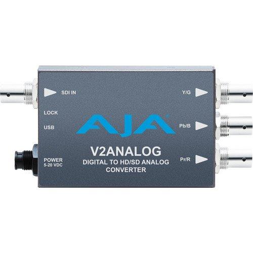 AJA V2Analog HD/SD-SDI to Component/Composite Analog Mini-Converter by Aja