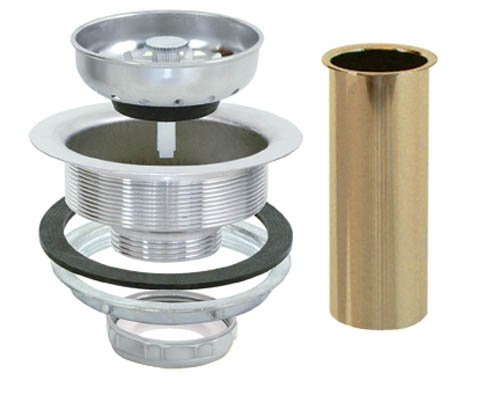 - EZ-FLO 30008 Removable Kitchen Sink Basket Strainer Drain Assembly Kit with Brass Tailpiece, Stainless Steel, 3-1/2-inch to 4-inch Opening