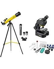 National Geographic telescopische en microscoopset voor kinderen en beginners, met uitgebreide accessoires