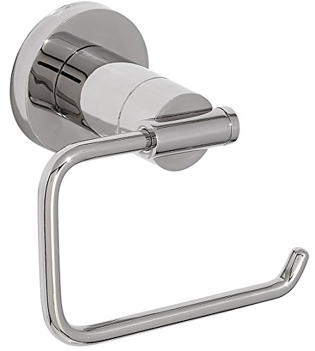 Modern Polished Toilet Paper Holder   Clean Lines & Premium Quality Stainless Steel Paper Ring   Wall Mounted Contemporary Design   Bathroom Roll Holder