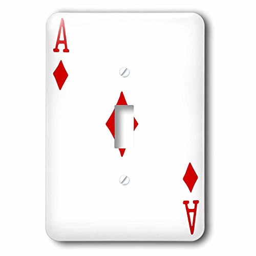 3dRose lsp_76550_1 Ace of Diamonds Playing Card Red Suit Gifts for Cards Game Players of Poker Bridge Games Single Toggle Switch by 3dRose