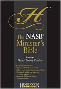 The Nasb Minister's Bible: New American Standard, Black