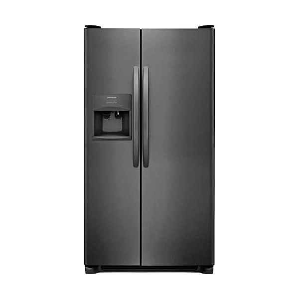 Frigidaire FFSS2315T 33 Inch Freestanding Side by Side Refrigerator with 22.1 cu. ft. Capacity, 2 Glass Shelves, External Water Dispenser, Crisper Drawer, Ice Maker