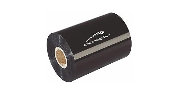 cera Negro 1/pulgadas vaina Exterior Cinta de transferencia t/érmica 110/mm x 300/m