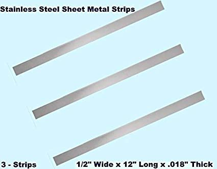 Amazon Com Stainless Steel Sheet Metal Strips 3 1 2 Wide X 12 Long X 018 Thick Industrial Scientific