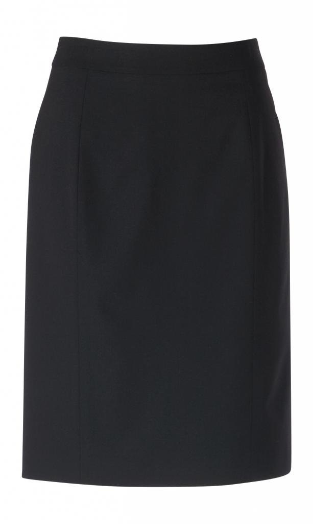 woolmaster Women's Seasonless Stretch Wool Pencil Skirt 14 Black by woolmaster