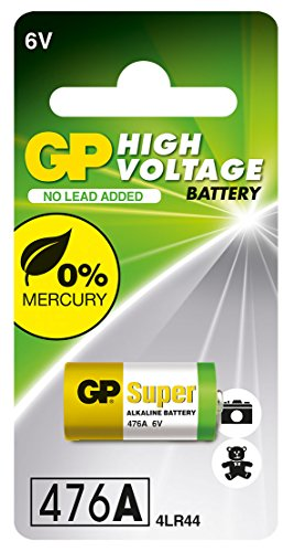 High Voltage 6v Alkaline Battery in reference to 4LR44, 476A, A544, V4034PX and PX28A Camera and Flash ()