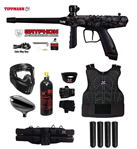 Paintball Complete - MAddog Tippmann Gryphon FX Starter Protective CO2 Paintball Gun Package - Skull
