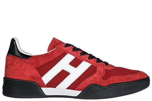 Hogan Herrenschuhe Herren Wildleder Sneakers Schuhe h357 Rot